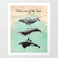 Saloons of the Sea Art Print