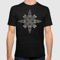 Calaabachti Matrix Mens Fitted Tee Tri-Black SMALL