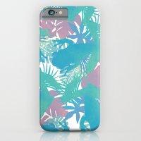 Tropical Blue Frog Pattern iPhone 6 Slim Case