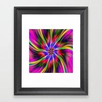 Swirling  Star Framed Art Print