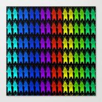 Rainbow King Bear Canvas Print