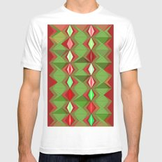 Waterbomb Holiday Colors SMALL White Mens Fitted Tee