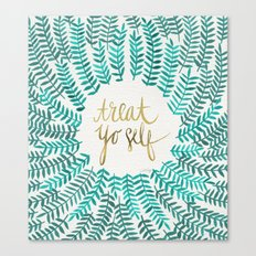 Treat Yo Self – Gold &… Canvas Print
