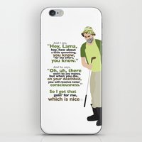 Carl Spackler and the Lama iPhone & iPod Skin