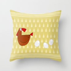 Mom hen Throw Pillow