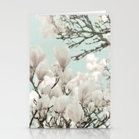 flowering magnolia trees Stationery Cards