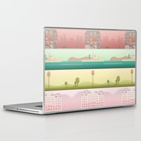 wes anderson Laptop & iPad Skins featuring A Wes Anderson Collection by George Townley