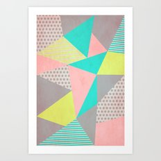 Geometric Pastel Art Print