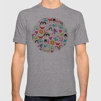 Zodiac and horoscope illustration theme Mens Fitted Tee Athletic Grey SMALL