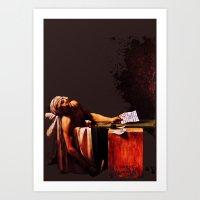 The Death of Marrat Art Print