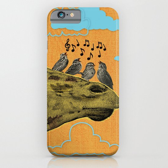 Giraffe & Singing Birds Print iPhone & iPod Case