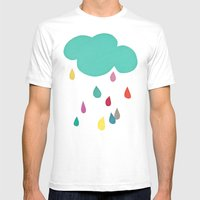 Sunshine And Showers Mens Fitted Tee White SMALL