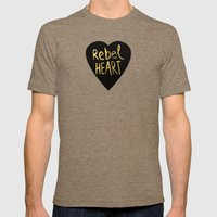 Rebel Heart Mens Fitted Tee Tri-Coffee SMALL