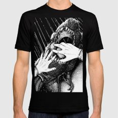 Jurassic Park Mens Fitted Tee Black SMALL