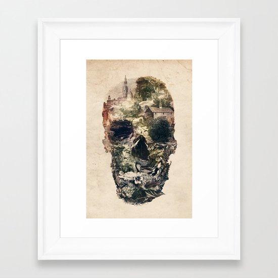 Skull Town Framed Art Print