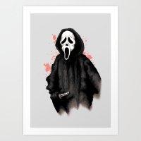 Ghost Face Art Print