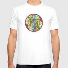 Mandala: Soul Mates Mens Fitted Tee SMALL White