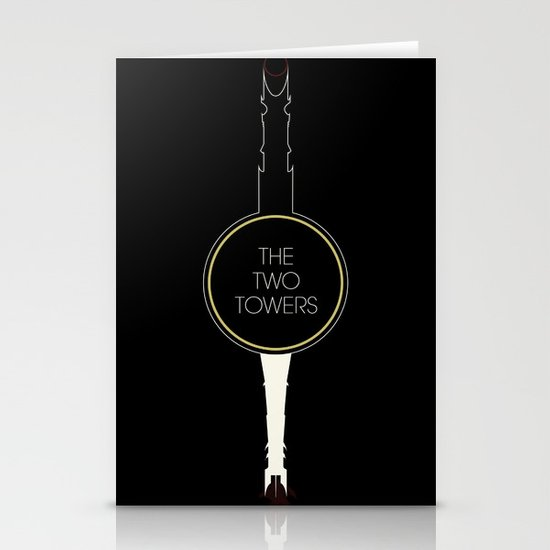 The Two Towers Stationery Card
