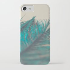 Turquoise Feather Abstract iPhone 7 Slim Case