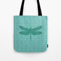 pattern with dragonfly 2 Tote Bag