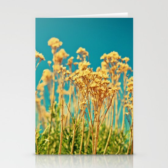 Blue & Gold & Green Stationery Card