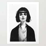 Art Print featuring Mrs Mia Wallace by Ruben Ireland
