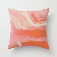 Marble Y  II Throw Pillow