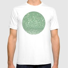 Seafoam bokeh White Mens Fitted Tee SMALL