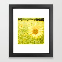 Smiling Sunflower Framed Art Print