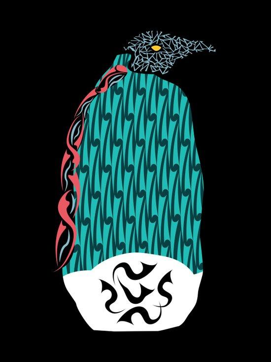 Abstract Penguin Art Print