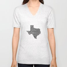 Typographic Texas Unisex V-Neck