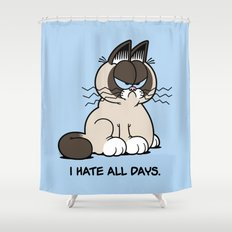 Always Grumpy Shower Curtain