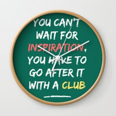 Go After Inspiration With A Club Wall Clock