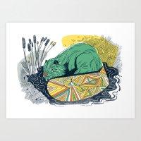 The Beaver Art Print