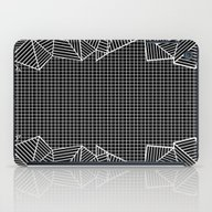 Grids And Stripes Black iPad Case