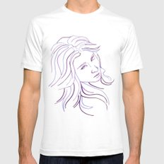 Purple Portrait Mens Fitted Tee White SMALL