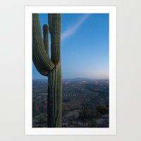 Night View Of Tucson Art Print