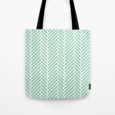 Herringbone Mint Zoom Tote Bag