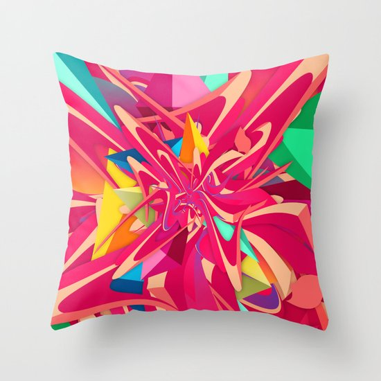Explosion #1 Throw Pillow