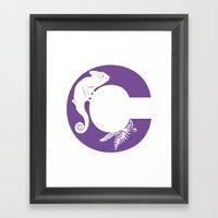 C Is For Chameleon - Ani… Framed Art Print