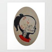 Girl Next Door = Silhouette and Anatomy Love Painting Art Print