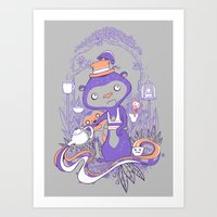 Art Print featuring Tea Monkey Tea Party by jewelwing
