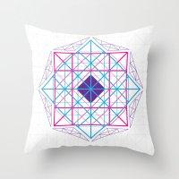 Geometric Mandalas Throw Pillow