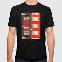Elevator - Illustrated Wikipedia Mens Fitted Tee Tri-Black SMALL