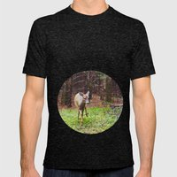 deer 2.  Mens Fitted Tee Tri-Black SMALL