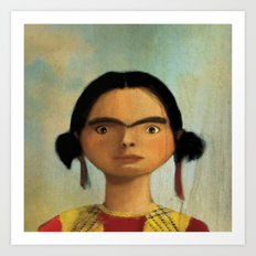Little Frida Art Print