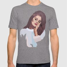 Miss Lana 60s Style Mens Fitted Tee Tri-Grey SMALL