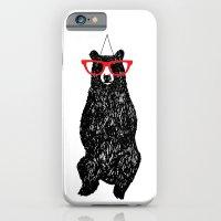 iPhone & iPod Case featuring Mr. Hipster Bear  by Ann Van Haeken