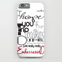 iPhone & iPod Case featuring Tripping - Backhanded Insults by Ross Bouthiette