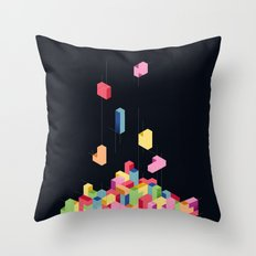 Tetrisometric Throw Pillow